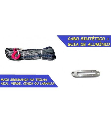 RC-SR Cabo sintético 15000lbs para Guincho Elétrico + Guia de Alumínio