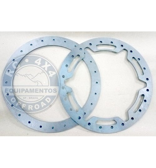 "RC-02 Jogo de anéis bead lock Aro 16""+ 96 parafusos p/ 4 rodas"