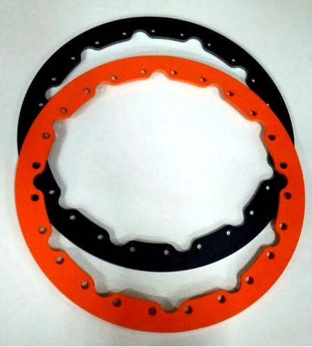 "RC-08 Jogo de anéis bead lock  p/ 4 rodas Aro 16"" + 96 parafusos"