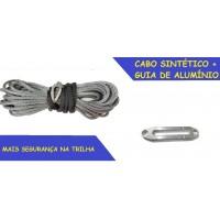 RC-SR Cabo sintético 15000lbs Sem Gancho para Guincho Elétrico + Guia de Alumínio