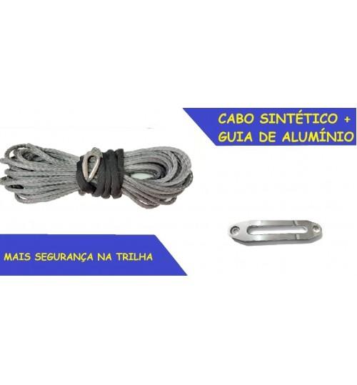 RC-SR Cabo sintético 15000lbs para Guincho Elétrico + Guia de Alumínio e sem gancho