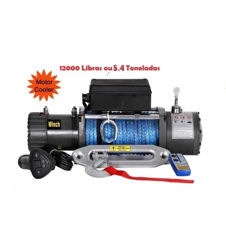 TXS-12000: GUINCHO 12000LBS / 5443kg COM CABO SINTETICO: