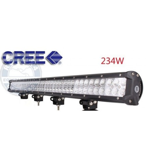 V06-234W: Barra Led Farol Reta 92cm / 234 WATTS Off Road 4X4 Tratores