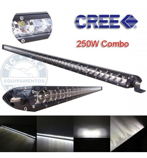 V02-250 Barra Led Reta Slim - Off-Road 4x4 127cm 250W de 9 a 32V