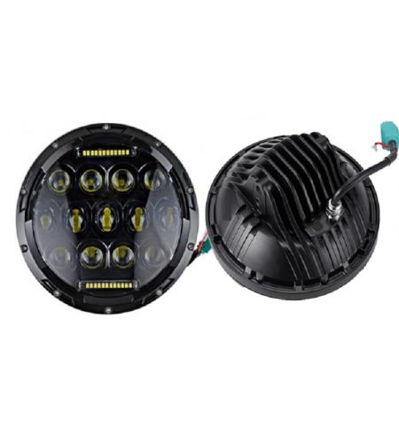 VD-46: Farol De Led 7 POLEGADAS 75 Watts - O par