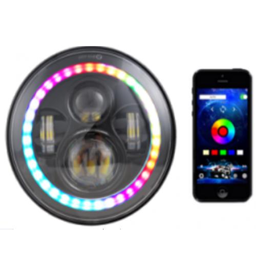 VD-10-RGB: Farol Angel RGB p/ Troller Willys Samurai e outros com 7 polegadas RGB
