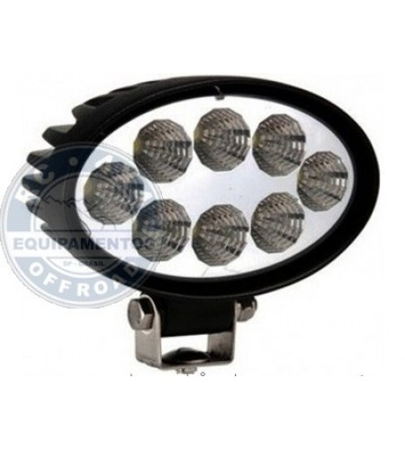 WD-1024: Farol de Milha Led Oval 14cm Larg. / 4 polegadas 12/24 Watts