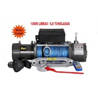 TXS-13000: GUINCHO 13000LBS / 5896kg COM CABO SINTETICO: