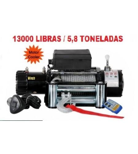 TX-13000: GUINCHO 13000LBS / 5896KG COM CABO DE AÇO:
