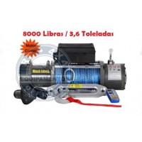 TXS-8000: GUINCHO 8000LBS / 3636kg COM CABO SINTETICO